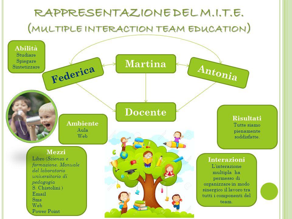 RAPPRESENTAZIONE DEL M.I.T.E. (multiple interaction team education)