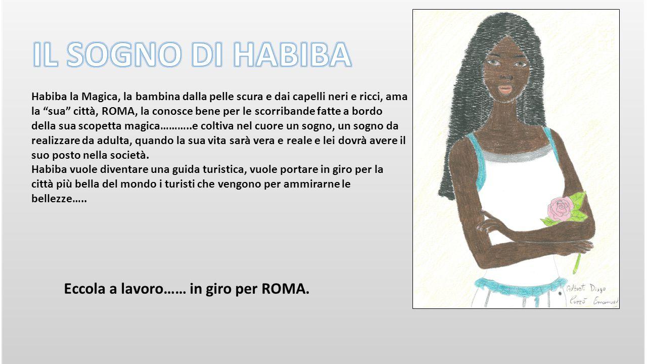 Eccola a lavoro…… in giro per ROMA.