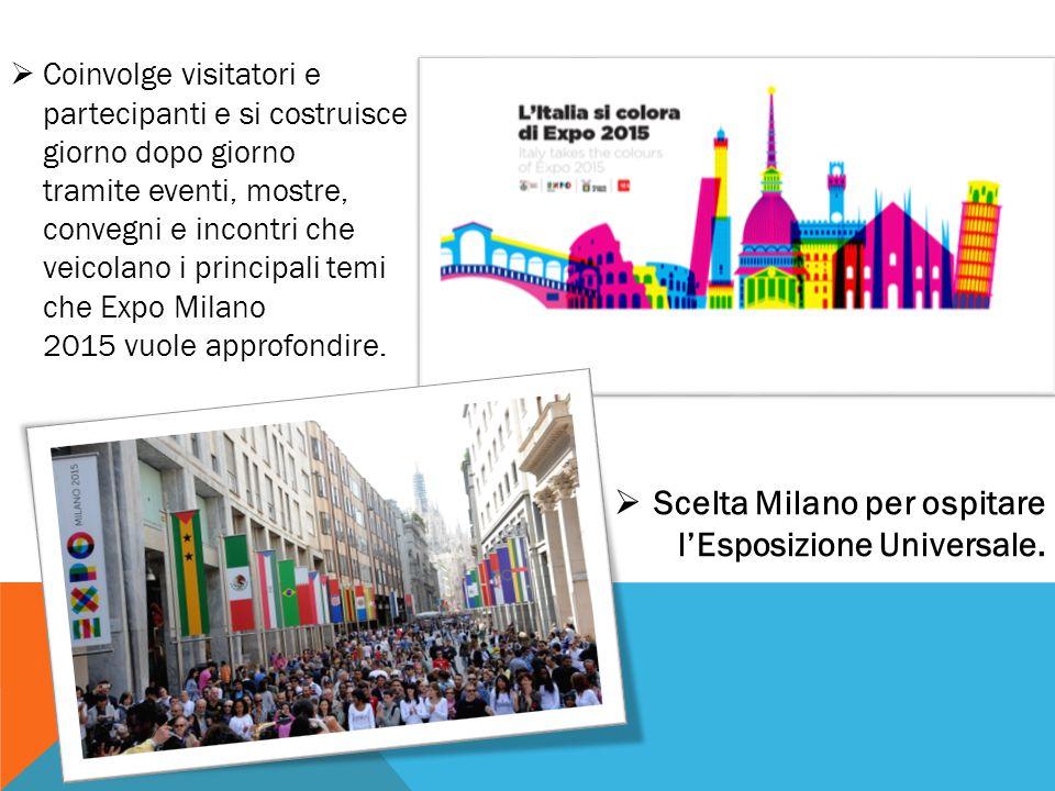 Scelta Milano per ospitare l'Esposizione Universale.
