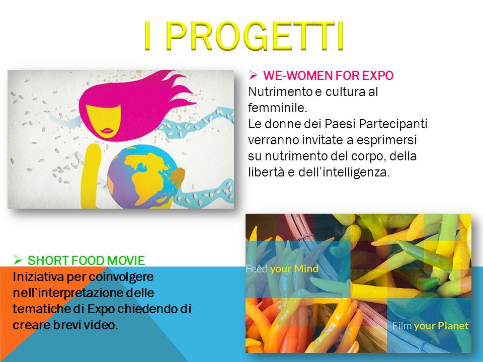 I PROGETTI WE-WOMEN FOR EXPO Nutrimento e cultura al femminile.