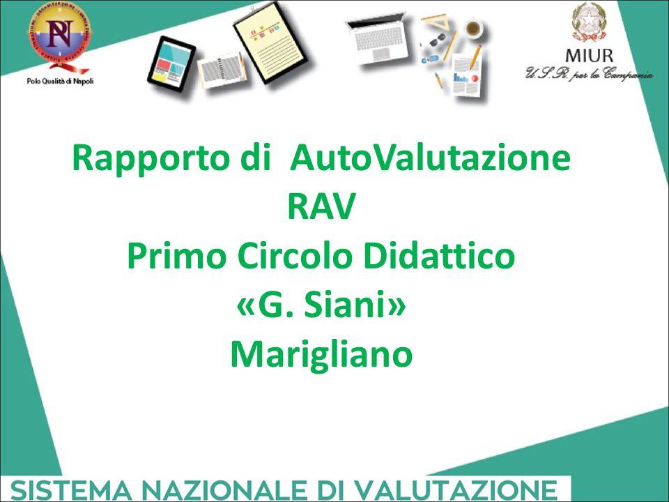 Rapporto di AutoValutazione RAV Primo Circolo Didattico «G