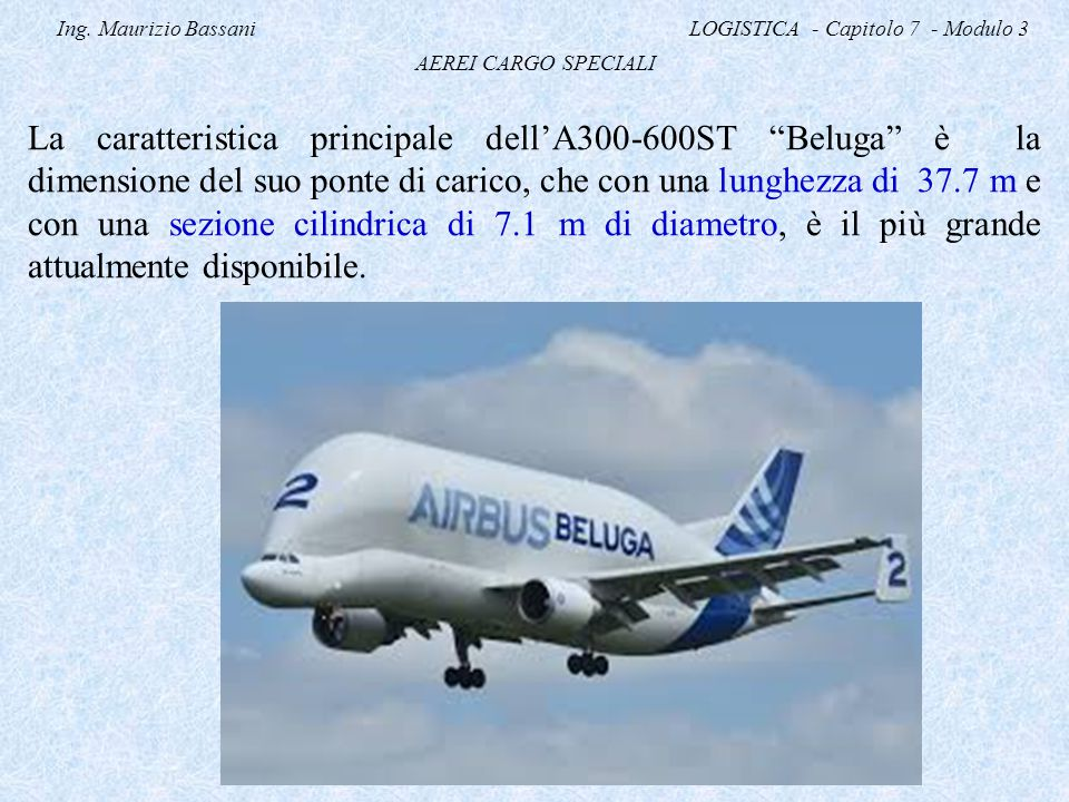 Ing. Maurizio Bassani LOGISTICA - Capitolo 7 - Modulo 3