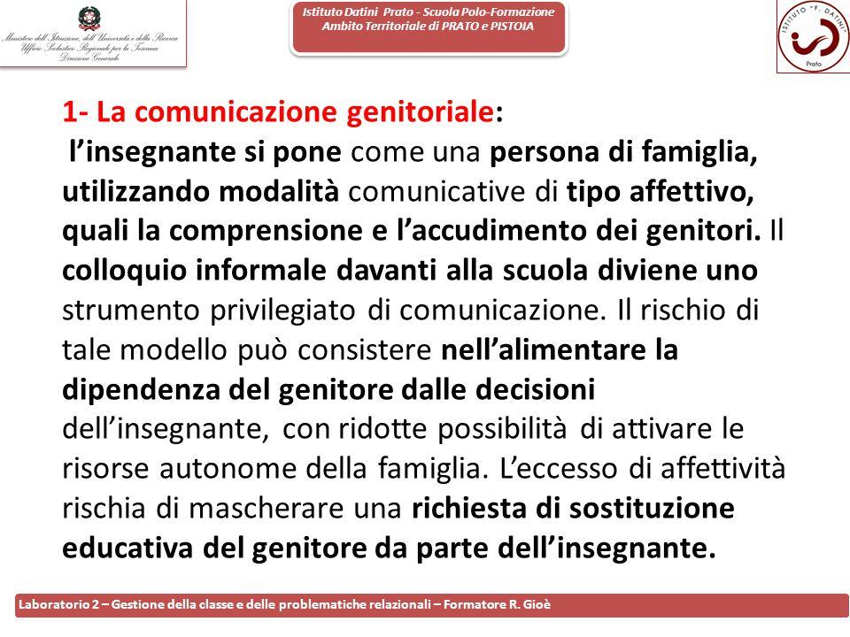 1- La comunicazione genitoriale: