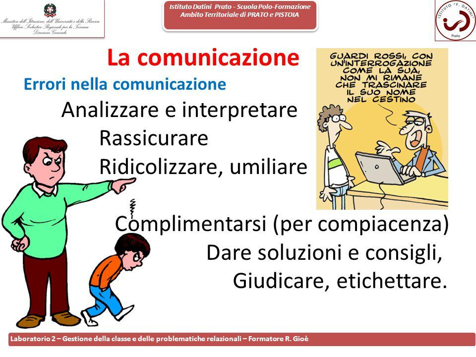 La comunicazione Analizzare e interpretare Rassicurare
