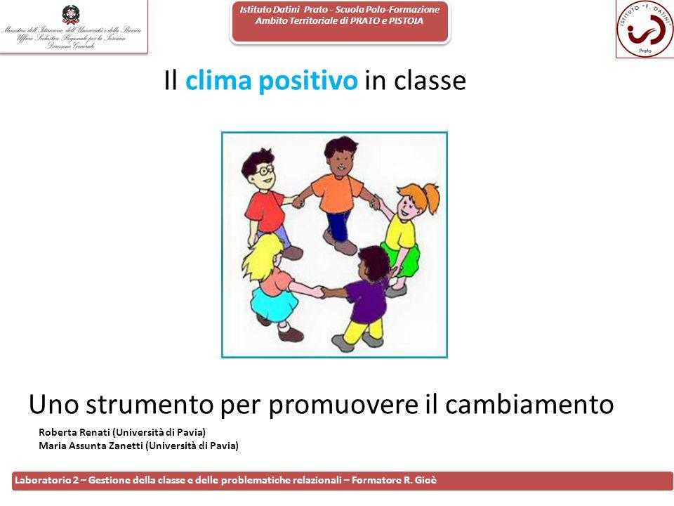 Il clima positivo in classe