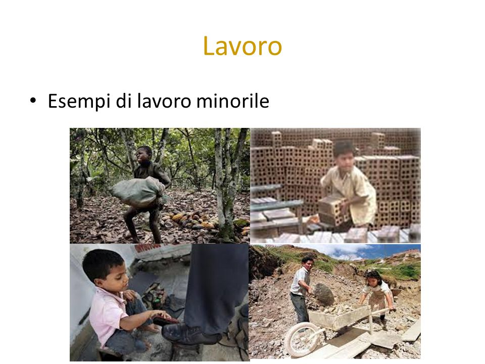 Lavoro Esempi di lavoro minorile