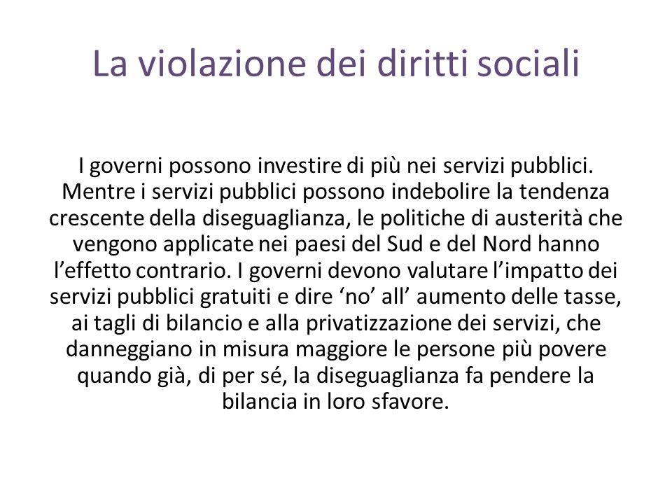 La violazione dei diritti sociali