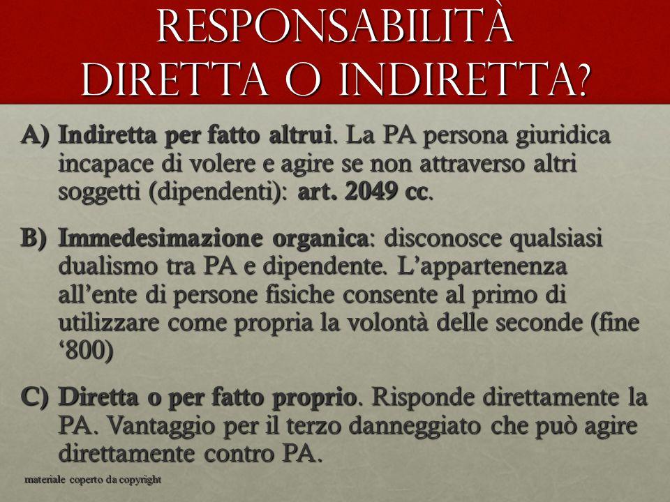 Responsabilità diretta o indiretta