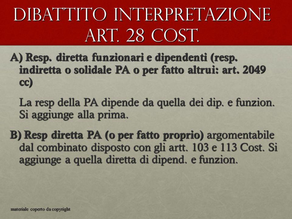 Dibattito interpretazione art. 28 Cost.
