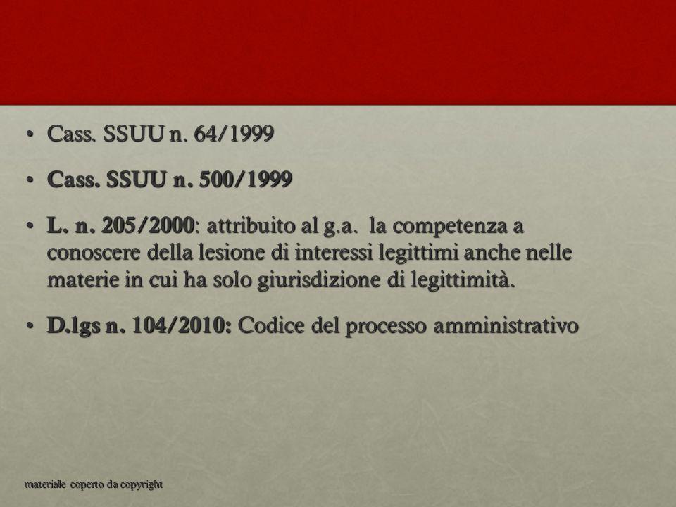D.lgs n. 104/2010: Codice del processo amministrativo