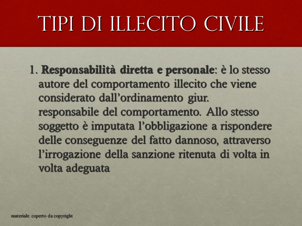 Tipi di illecito civile