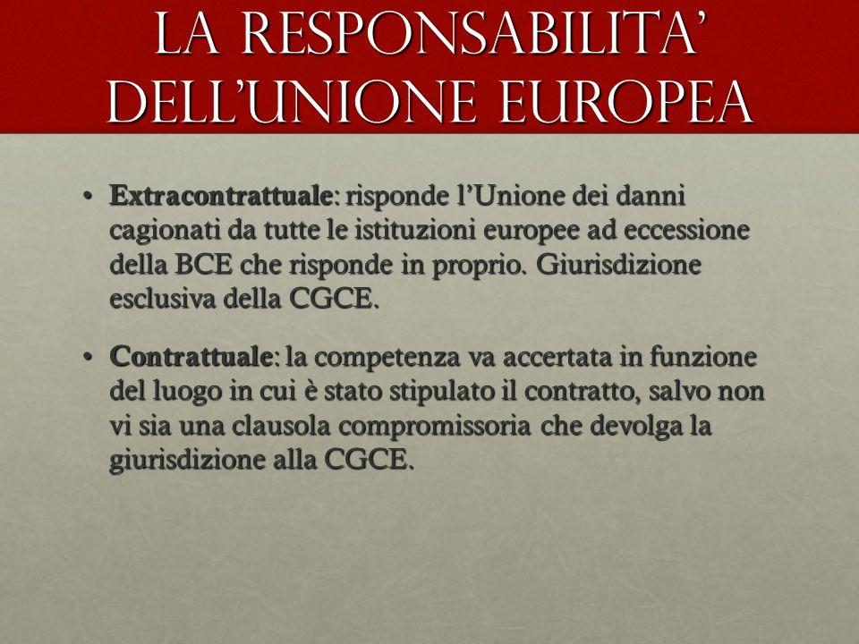 La responsabilita' dell'unione europea