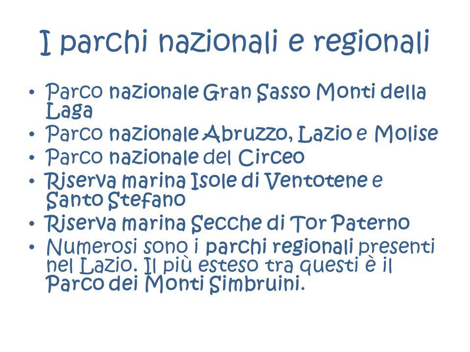 I parchi nazionali e regionali