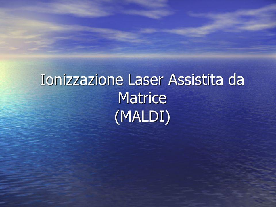 Ionizzazione Laser Assistita da Matrice (MALDI)