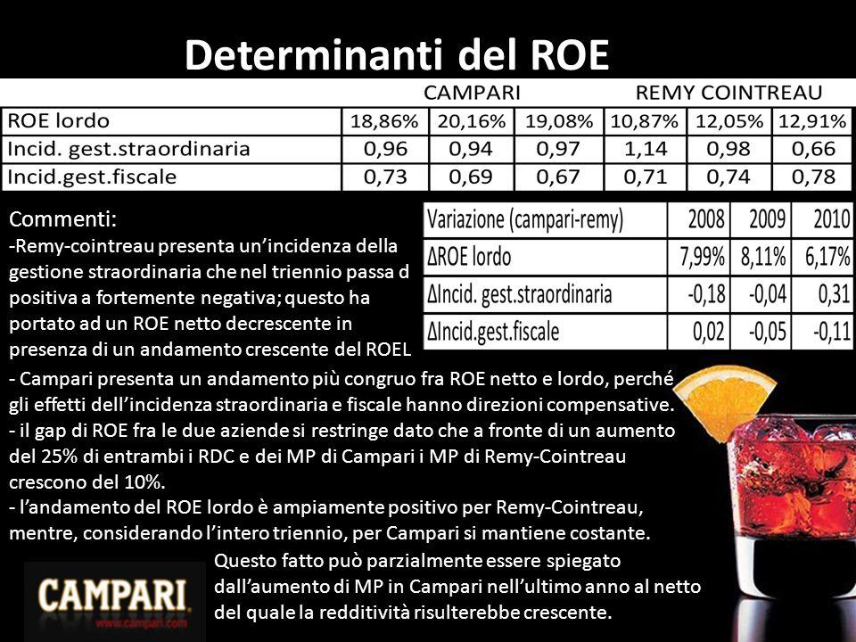 Determinanti del ROE Commenti: