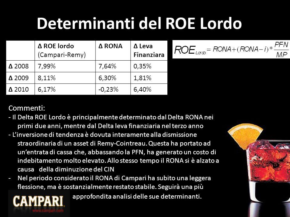 Determinanti del ROE Lordo