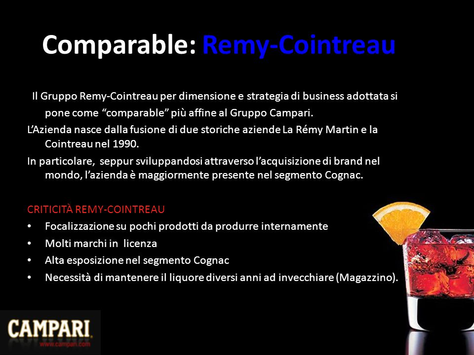 Comparable: Remy-Cointreau