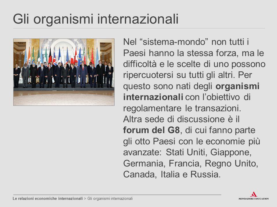 Gli organismi internazionali