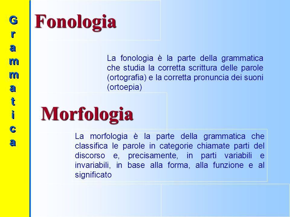 Fonologia Morfologia Gr amma t i c a