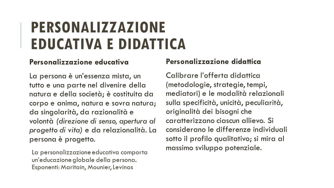 Personalizzazione educativa e didattica