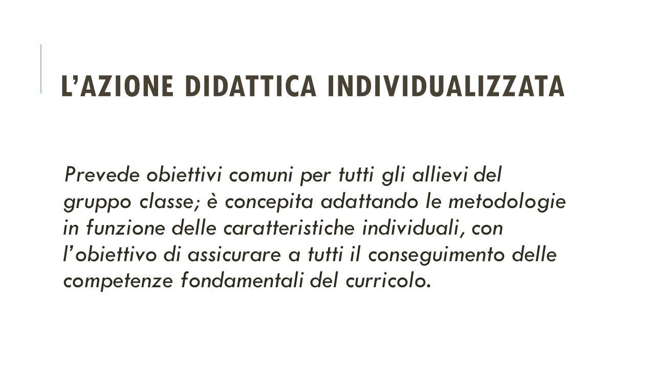 L'azione didattica individualizzata