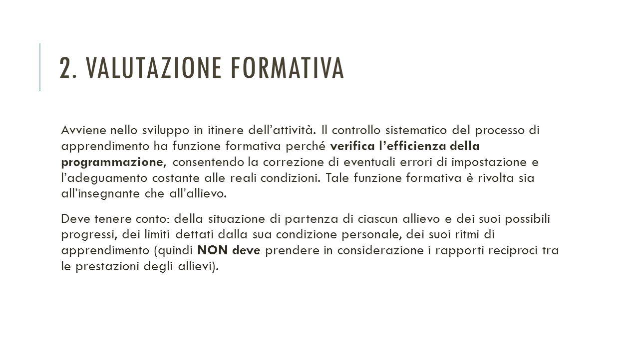 2. Valutazione formativa