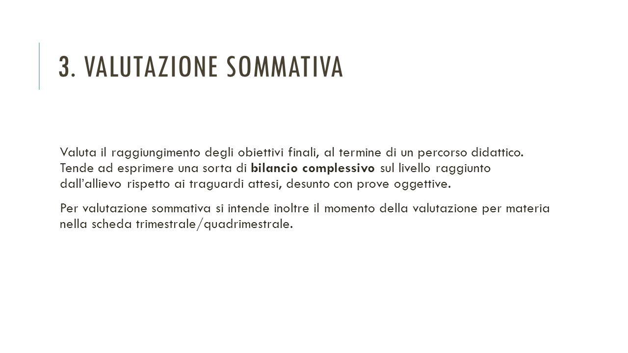 3. Valutazione sommativa