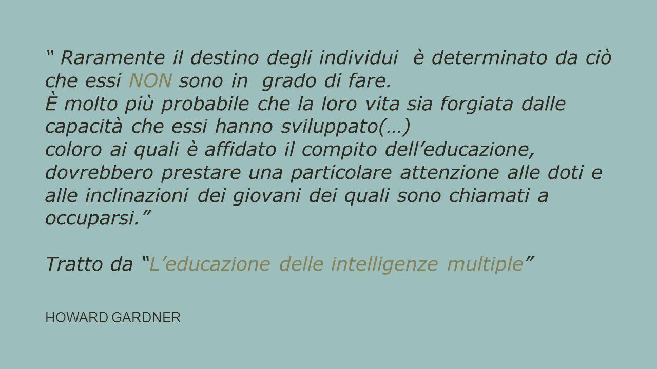 Tratto da L'educazione delle intelligenze multiple