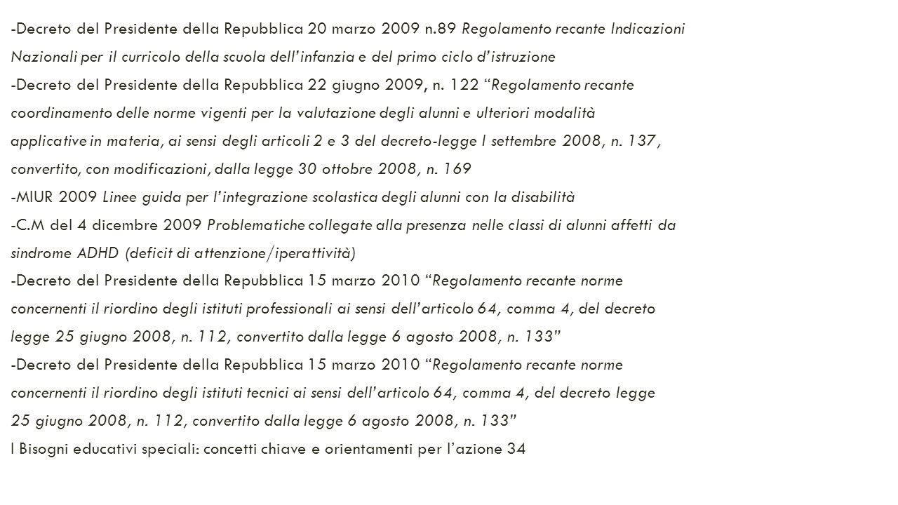 -Decreto del Presidente della Repubblica 20 marzo 2009 n
