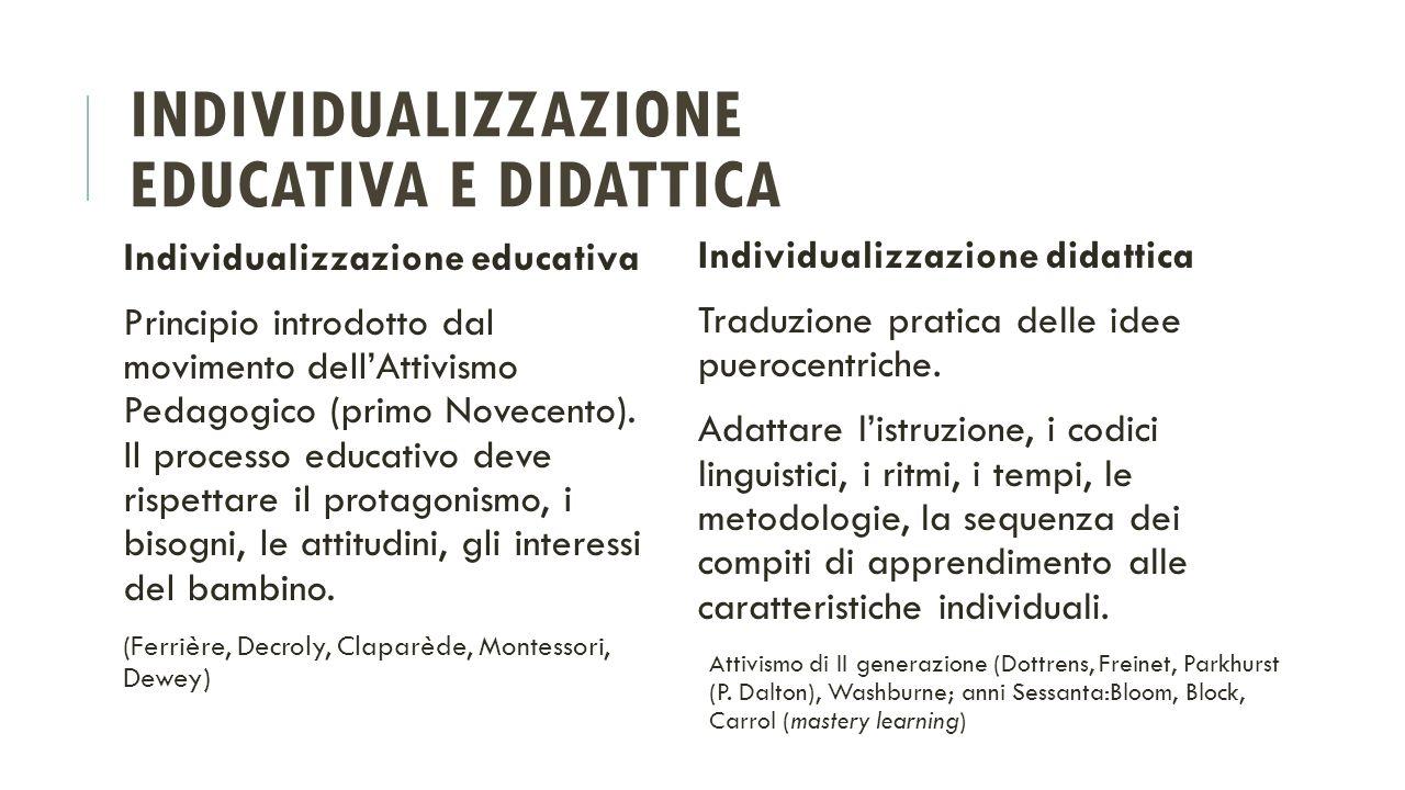Individualizzazione educativa e didattica