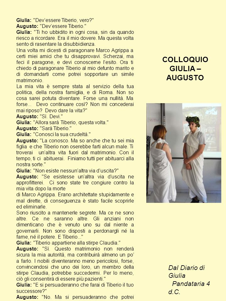 COLLOQUIO GIULIA –AUGUSTO