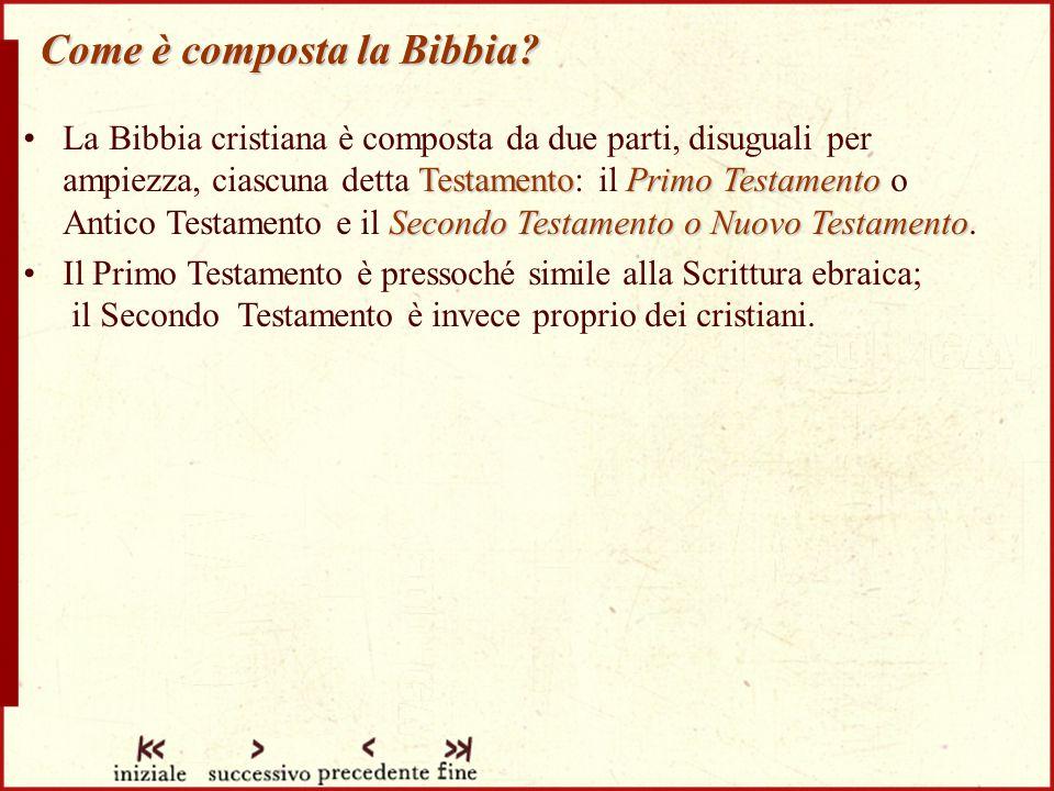Come è composta la Bibbia