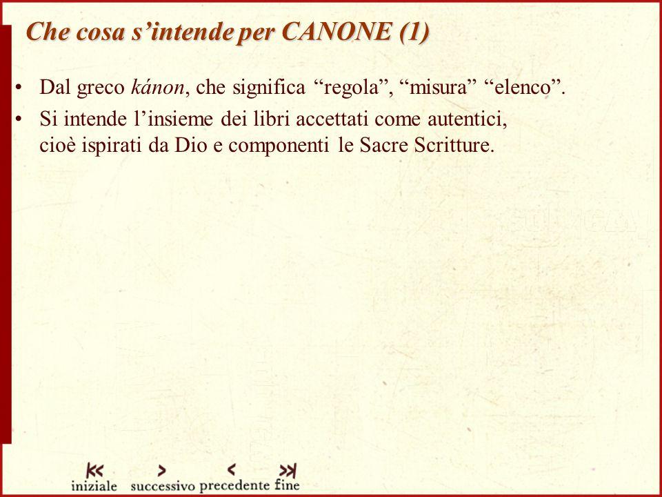 Che cosa s'intende per CANONE (1)