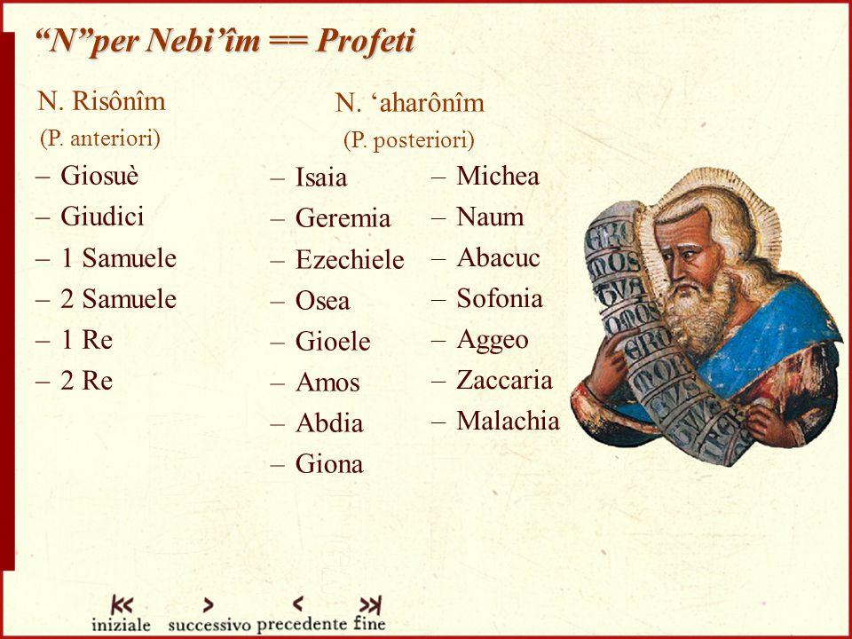 N per Nebi'îm == Profeti