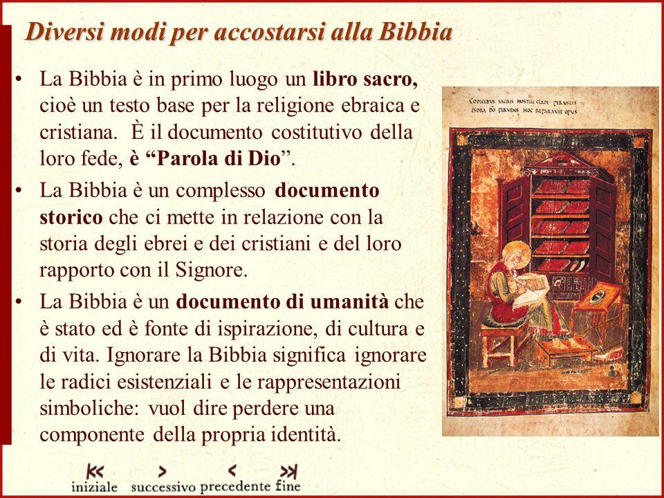 Diversi modi per accostarsi alla Bibbia
