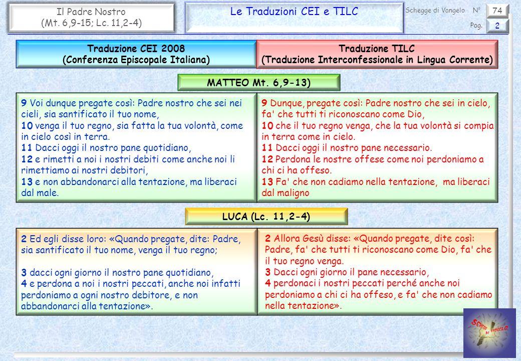 Le Traduzioni CEI e TILC