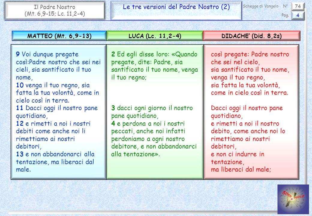 Le tre versioni del Padre Nostro (2)