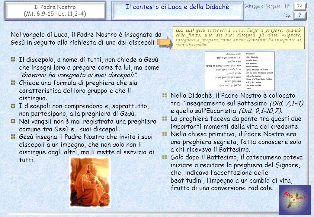 Il contesto di Luca e della Didachè
