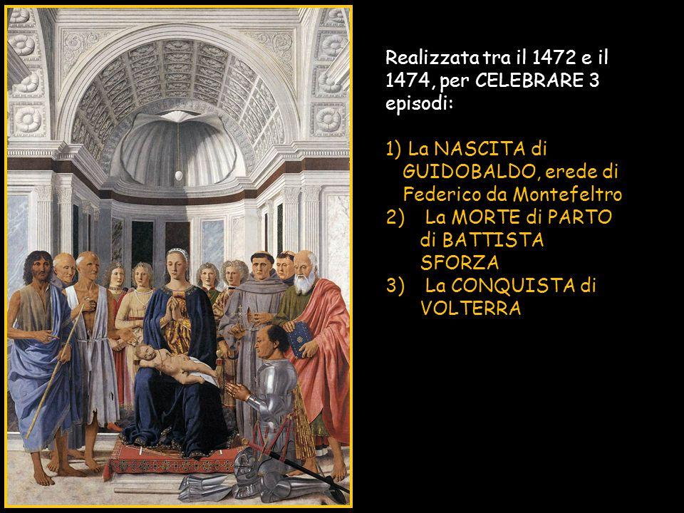 Realizzata tra il 1472 e il 1474, per CELEBRARE 3 episodi: