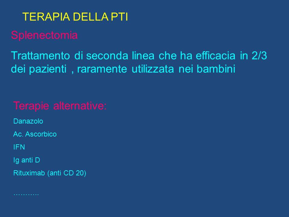 TERAPIA DELLA PTI Splenectomia