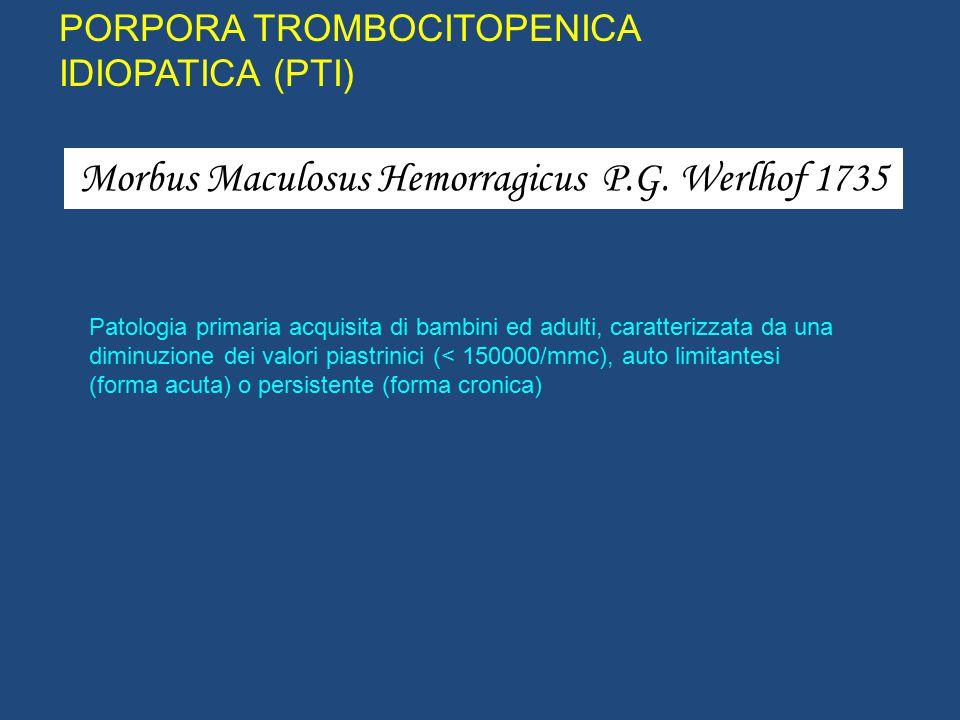Morbus Maculosus Hemorragicus P.G. Werlhof 1735