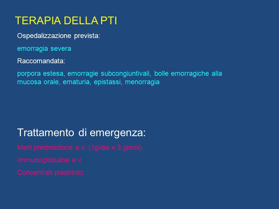 Trattamento di emergenza: