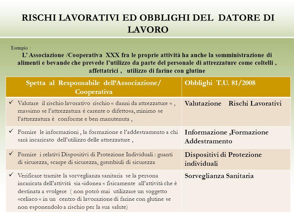 RISCHI LAVORATIVI ED OBBLIGHI DEL DATORE DI LAVORO