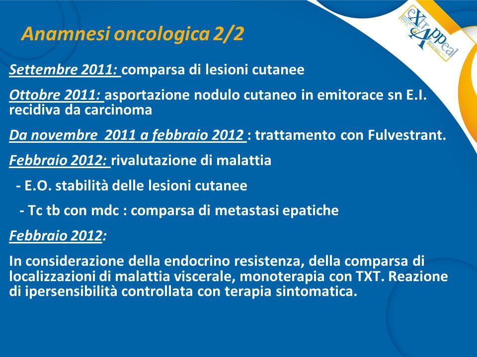 Anamnesi oncologica 2/2