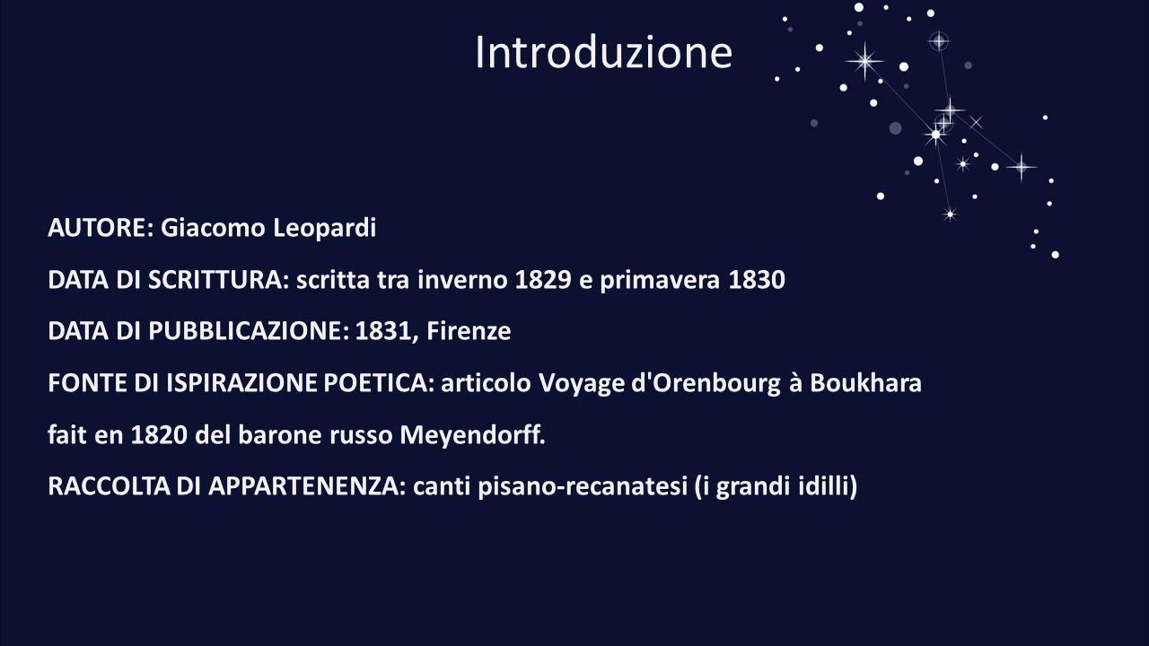 Introduzione AUTORE: Giacomo Leopardi