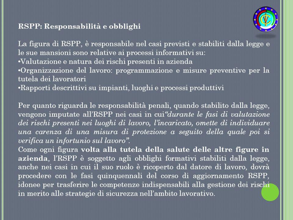 RSPP: Responsabilità e obblighi