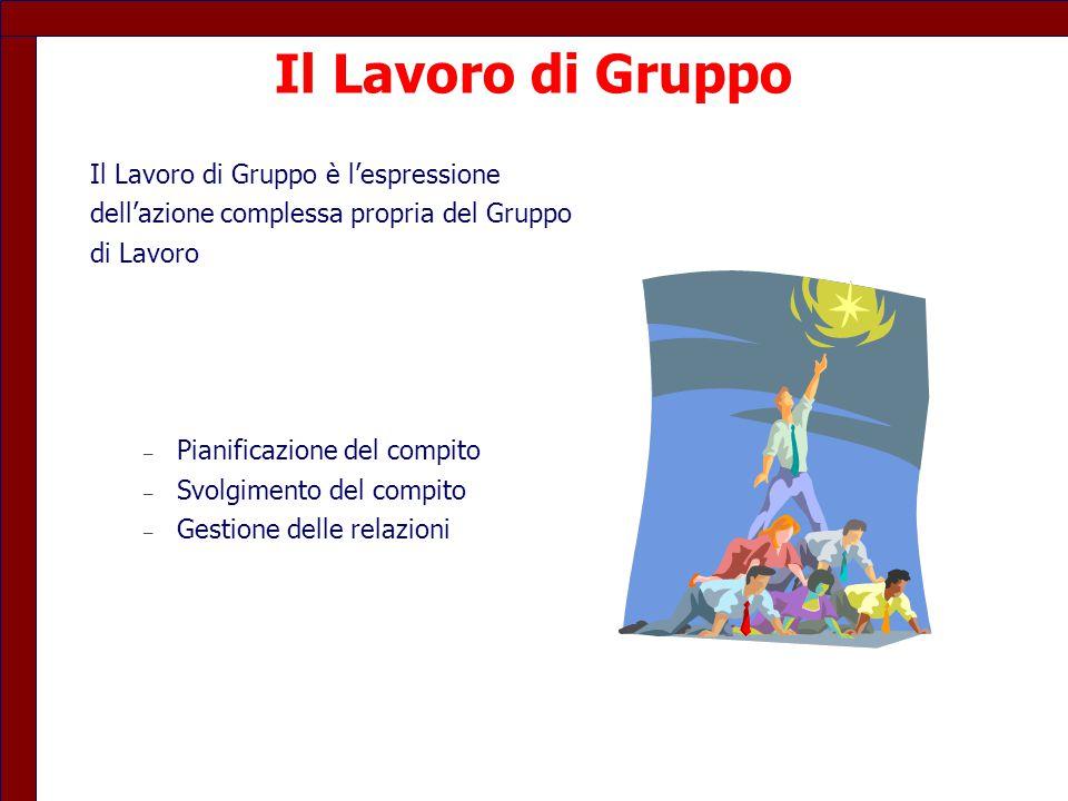 Il Lavoro di Gruppo Il Lavoro di Gruppo è l'espressione