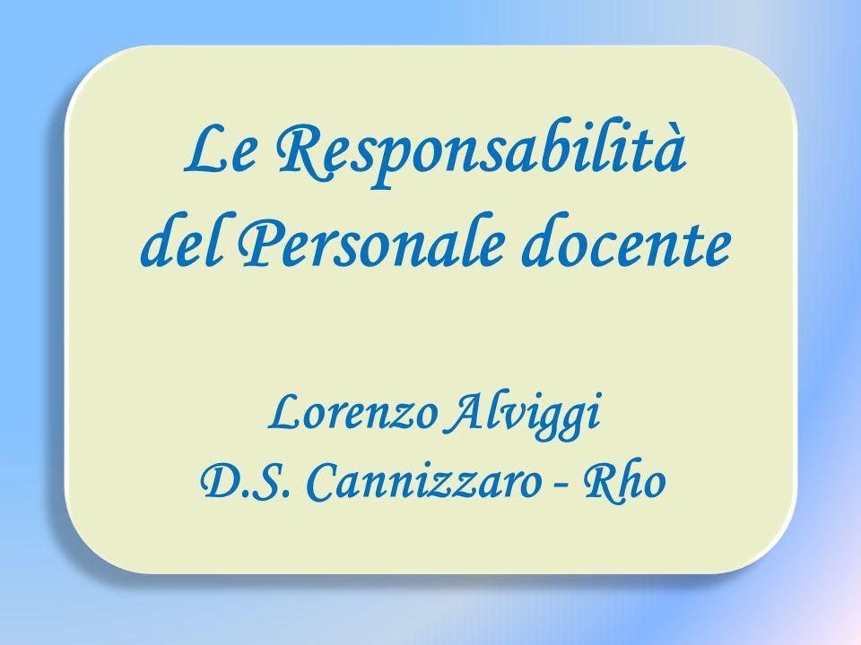 Le Responsabilità del Personale docente