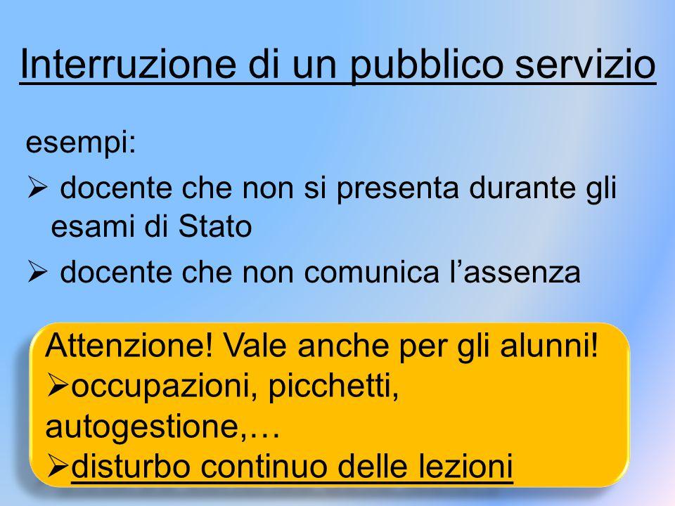Interruzione di un pubblico servizio