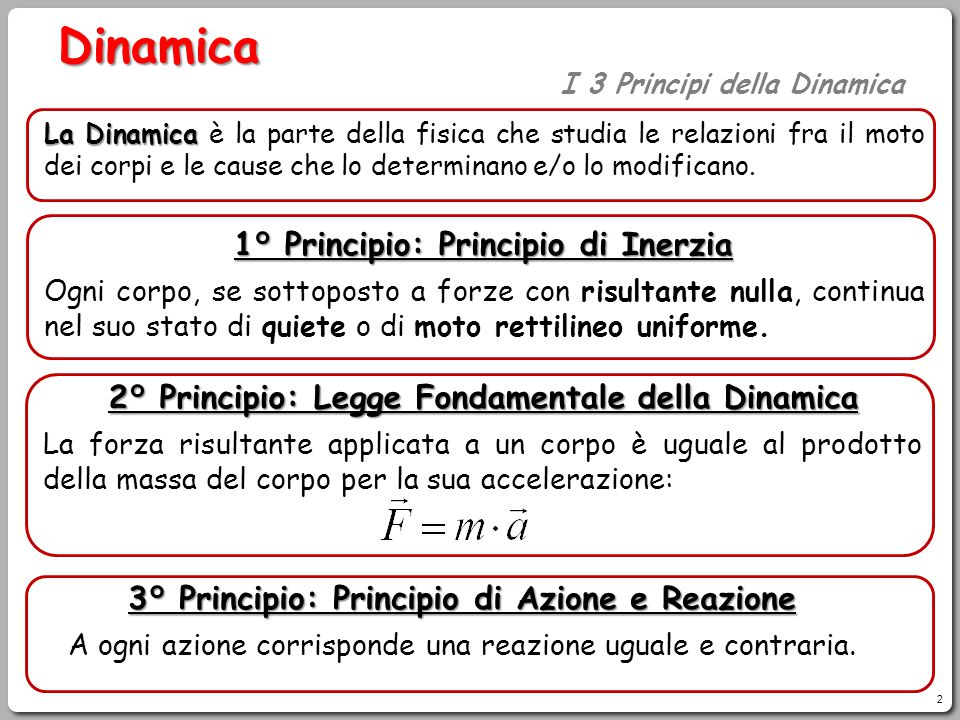 Dinamica 1° Principio: Principio di Inerzia